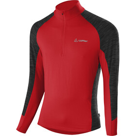 Löffler Rob Transtex Sweat-shirt Zip Homme, red